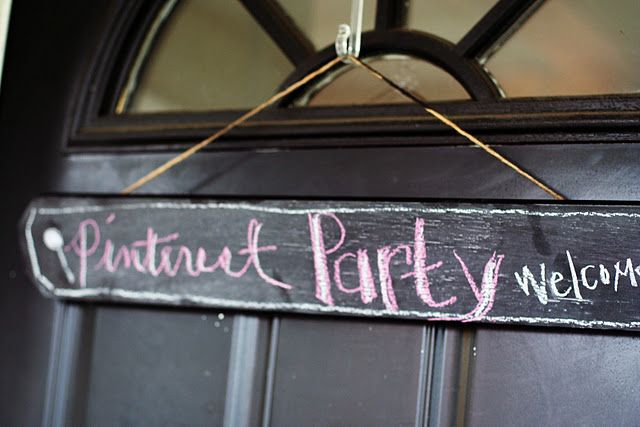 """A """"pinterest"""" party! All the details of how to throw a pinterest party!"""