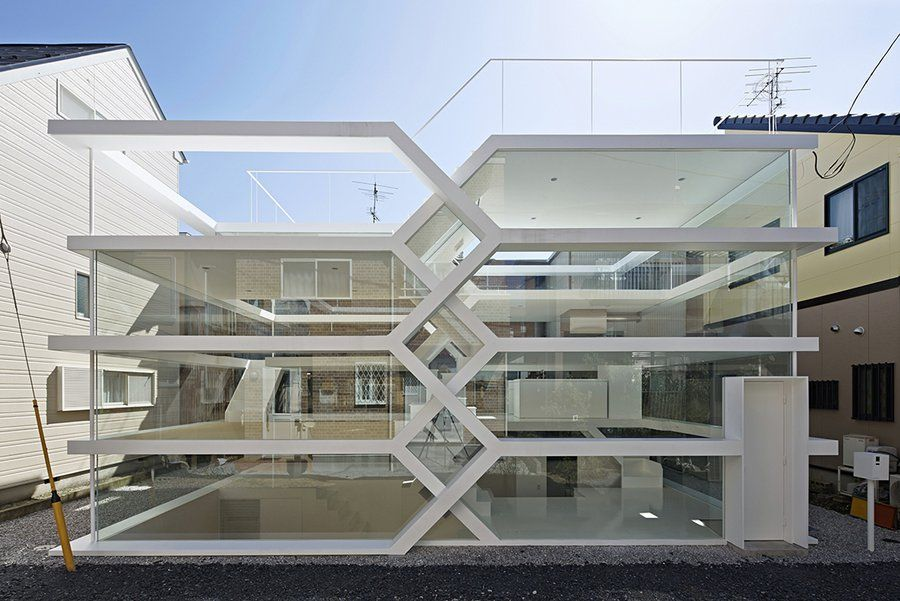 Algorithmic House by Yuusuke Karasawa Made From Steel and Glass