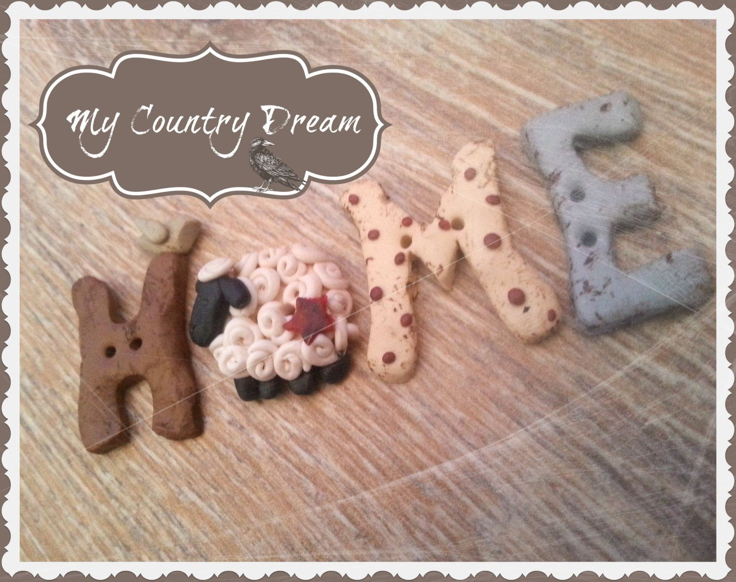 Home - Handmade buttons set - Set of 4 pcs. di MyCountryDreamShop su Etsy