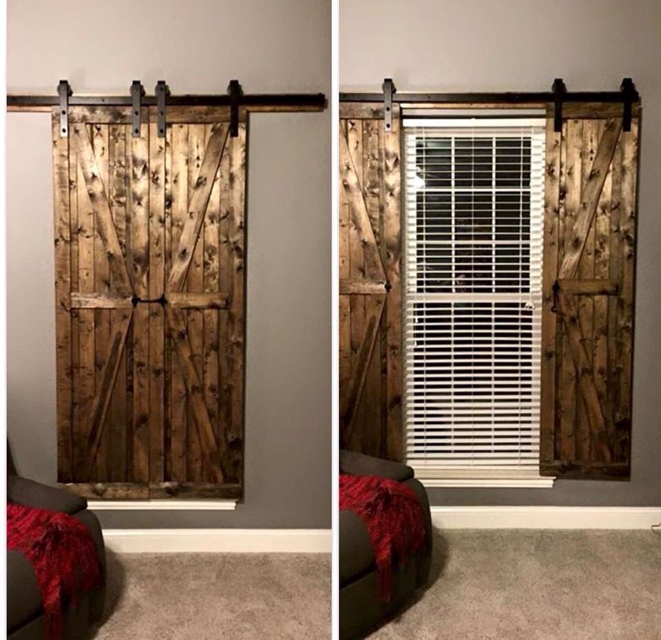 Sick Wood Sliding Curtains Shutters Rustic House House Home