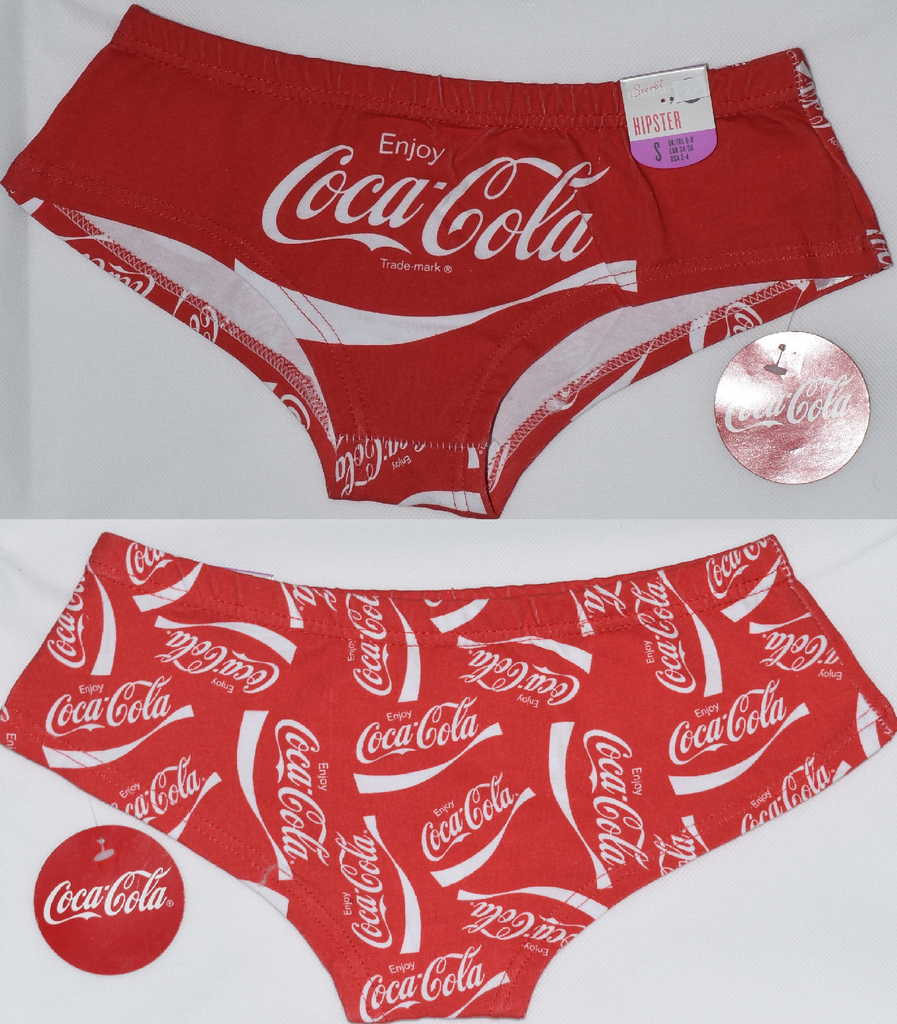 99a73a42970 Primark Coca Cola Knickers Hipster Briefs Red   White UK Sizes 4 - 20 NEW