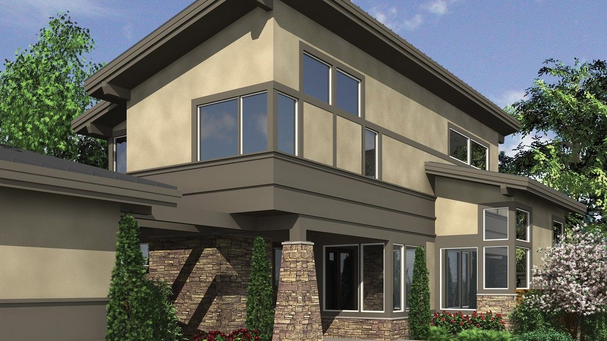 House Narrow Contemporary with Rear Loading Detached