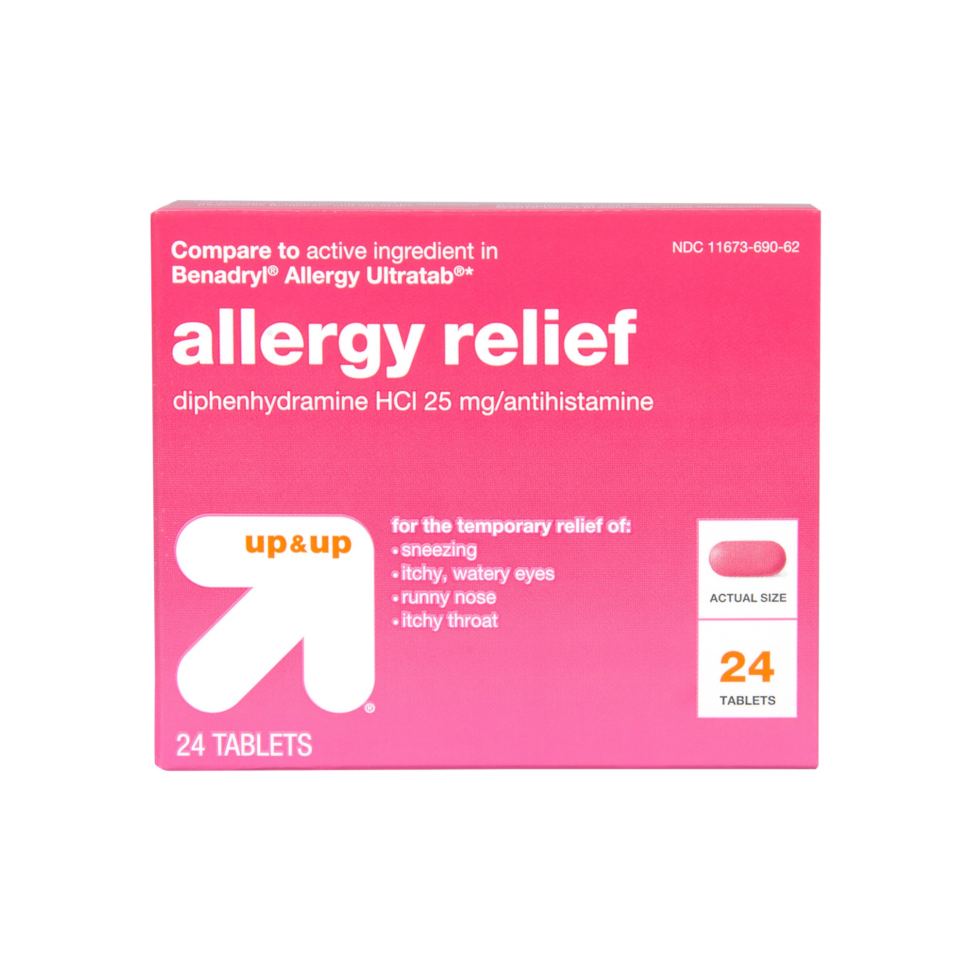 Diphenhydramine HCI Allergy Relief Tablets - (Compare to