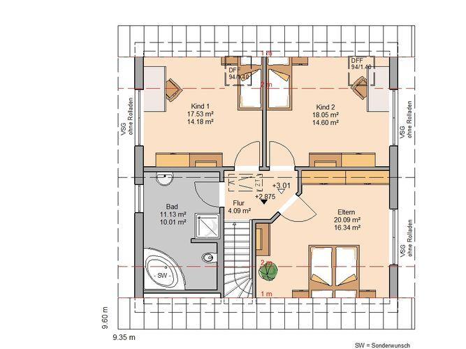 Traumhaus modern grundriss  Familienhaus Luna Plus von Kern-Haus | Modern und hell | Grundriss ...