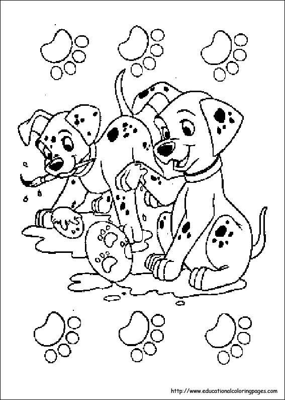 Free Printable Coloring Pages 101 Dalmation Coloring Sheets | Draw ...