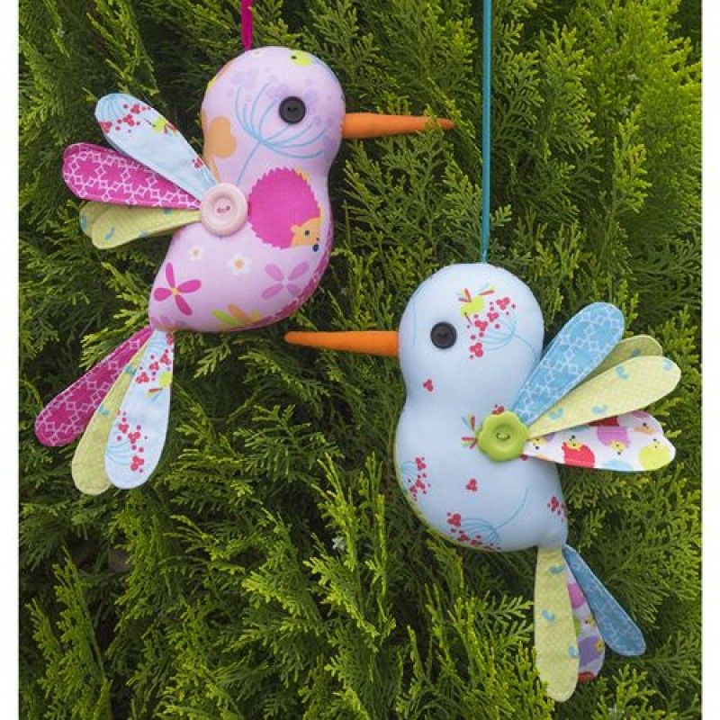 Hummingbird Soft Toy sewing pattern from Melly and Me - click to ...
