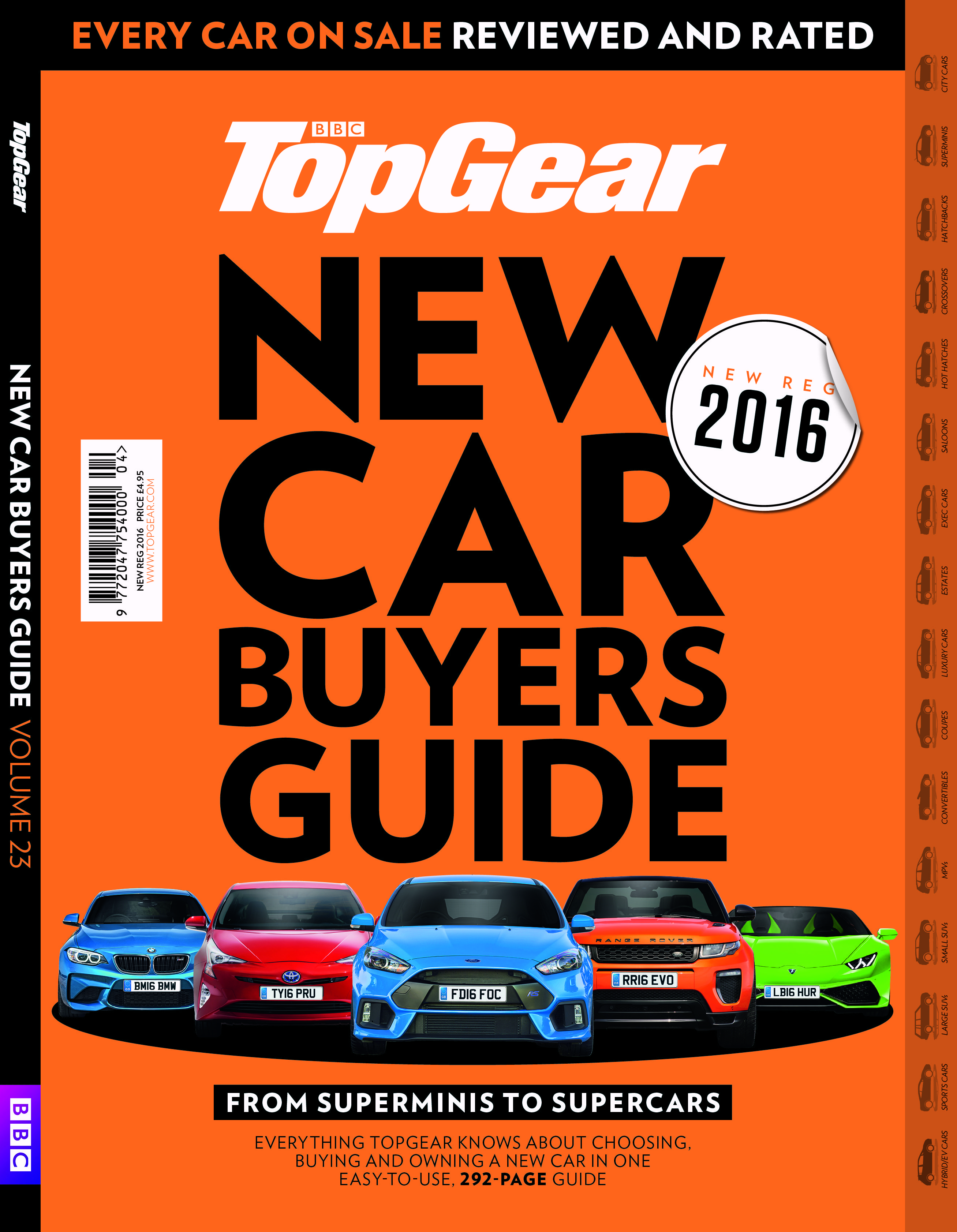 the top gear new car buyers guide every car on sale reviewed and rated 39 new reg 2016 39 edition. Black Bedroom Furniture Sets. Home Design Ideas