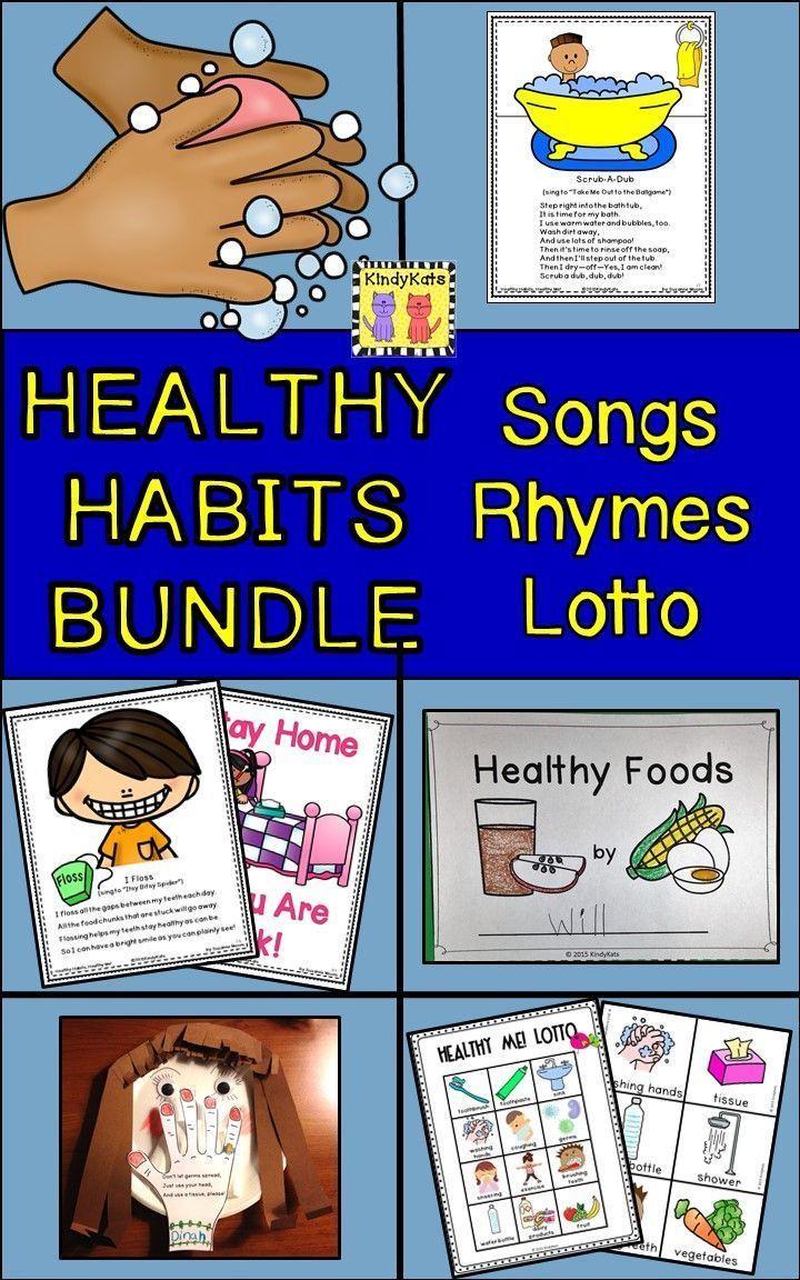 Healthy Habits BUNDLE Songs & Rhymes + Healthy Me! Lotto