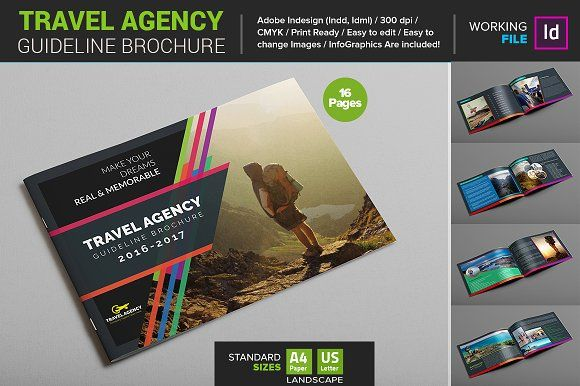 Travel Agency Guide Brochure By Layout Design Ltd On - Travel guide brochure template