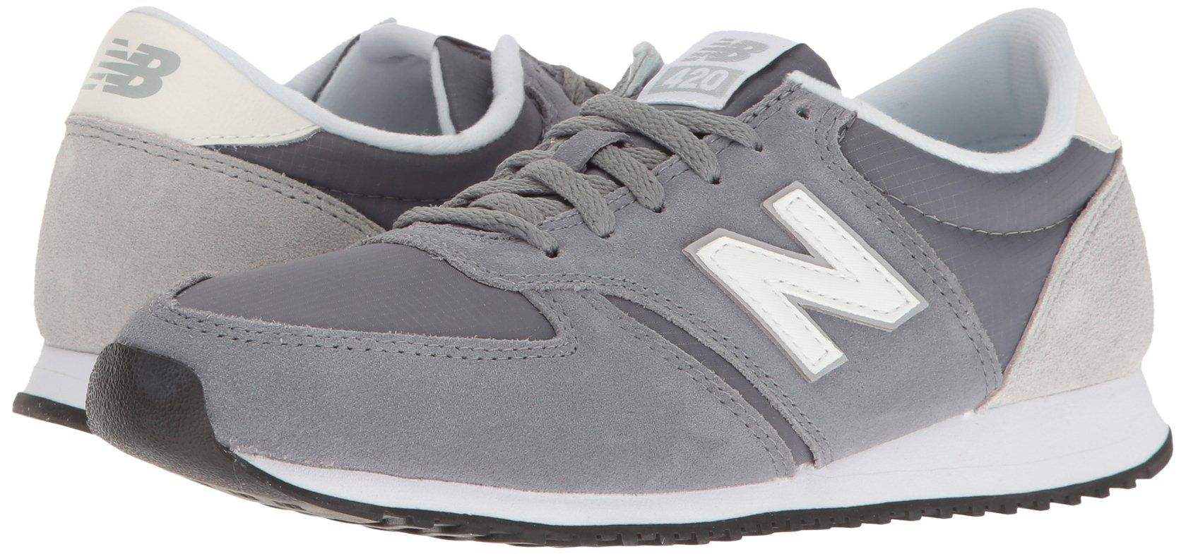 67c42237666 New Balance Womens wl420 Sneaker Gunmetal White Silver Mink 9 B US     To  view further for this item