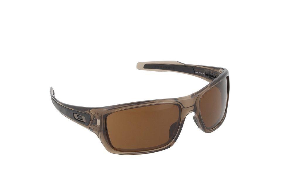 0f2961f6e3f Oakley Men s Turbine OO9263-02 Rectangular Sunglasses Brown Smoke 65 ...