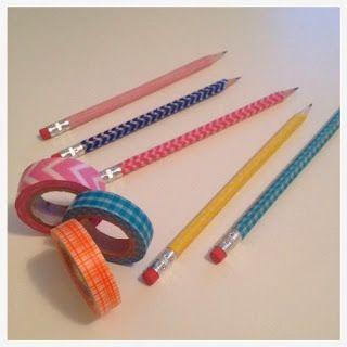 2 Girls, 1 Year, 730 Moments to Share: Washi Tape Pencils, Washi Tape, DIY