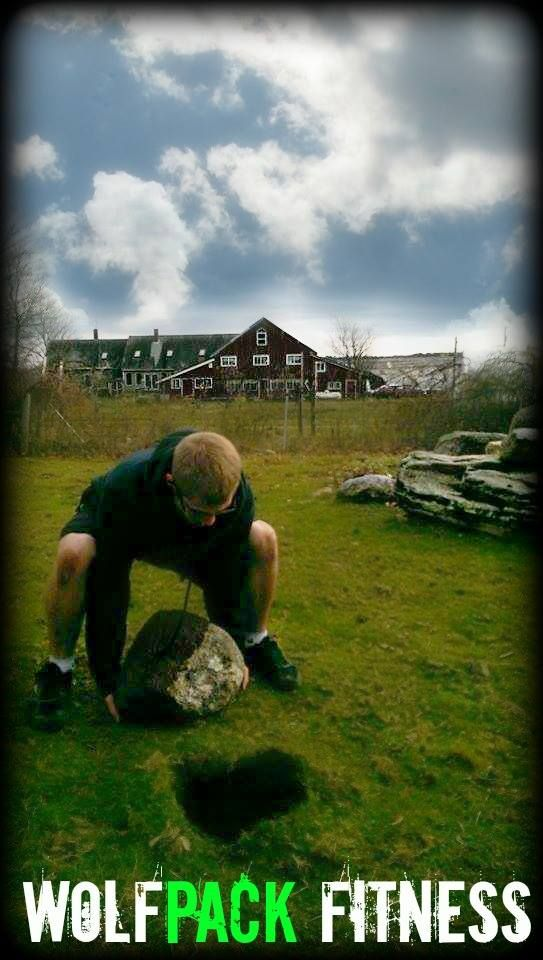 Be strong to be helpful!  Clearing a local farm field or rocks