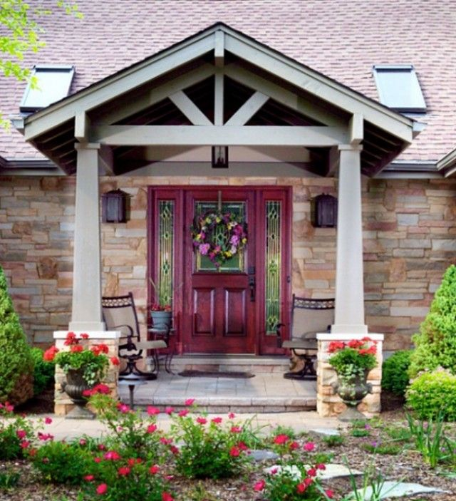 Pin By Juanita Slaughter On For The Home House With Porch Front Porch Design Porch Remodel