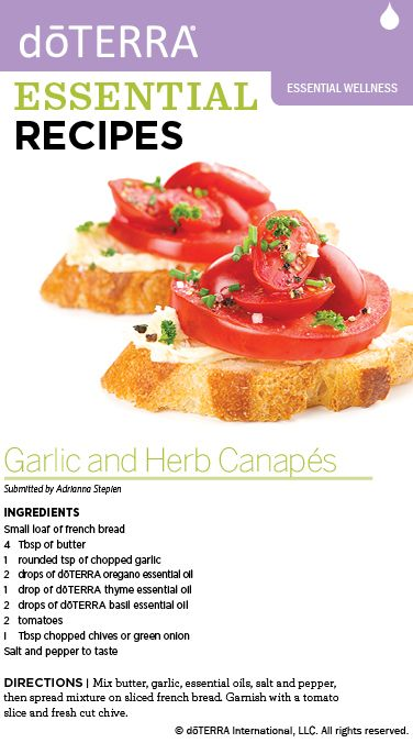 Garlic herb canaps made with dterra essential oils doterra garlic herb canaps made with dterra essential oils forumfinder Images