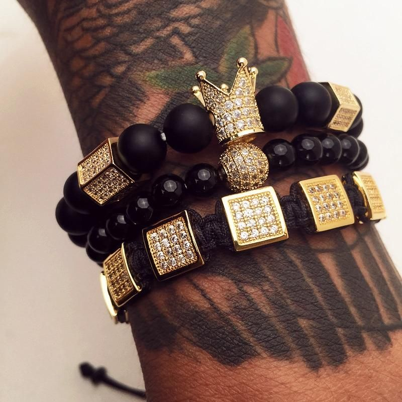 f3fd6331 King Crown Bracelet Set in 2019 | Jewelry | Jewelry, Bracelets for ...