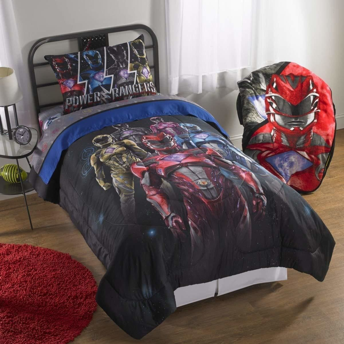 Comforters And Sets 66728 Power Rangers Band Together Twin Full