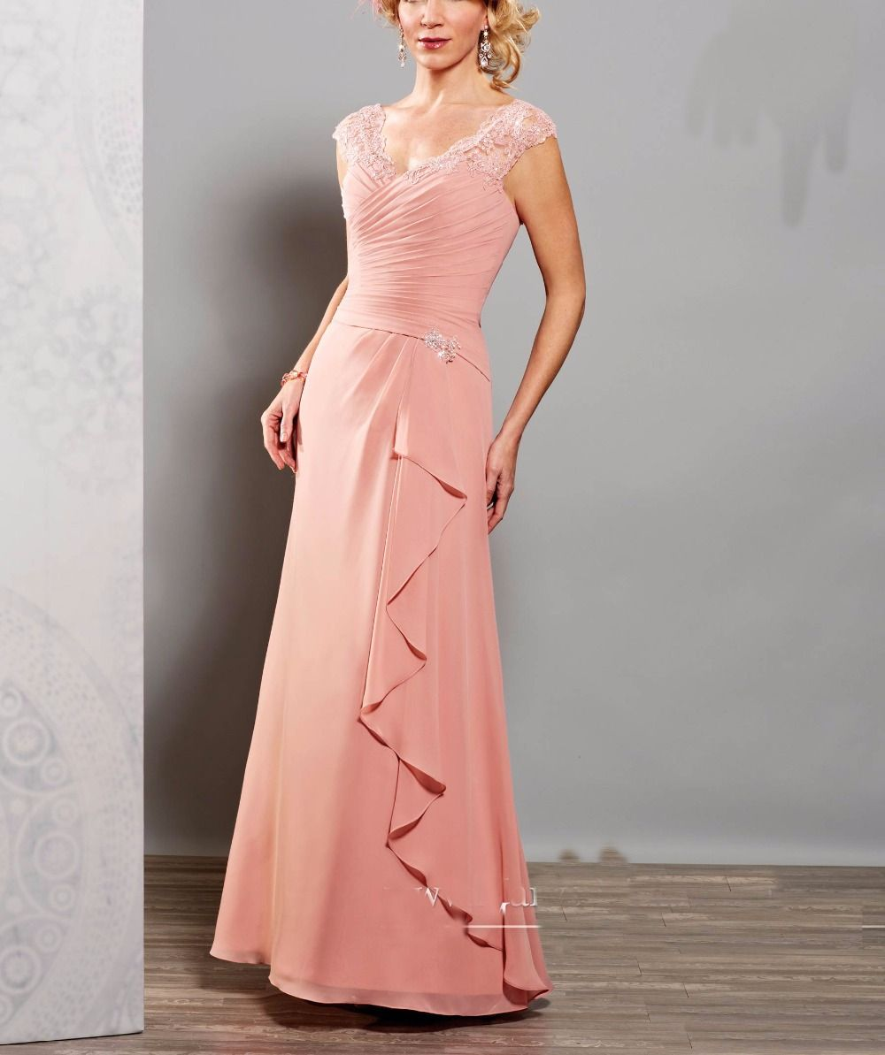 Cheap De Encaje de color rosa Madre De La Novia Vestidos de Madrina ...