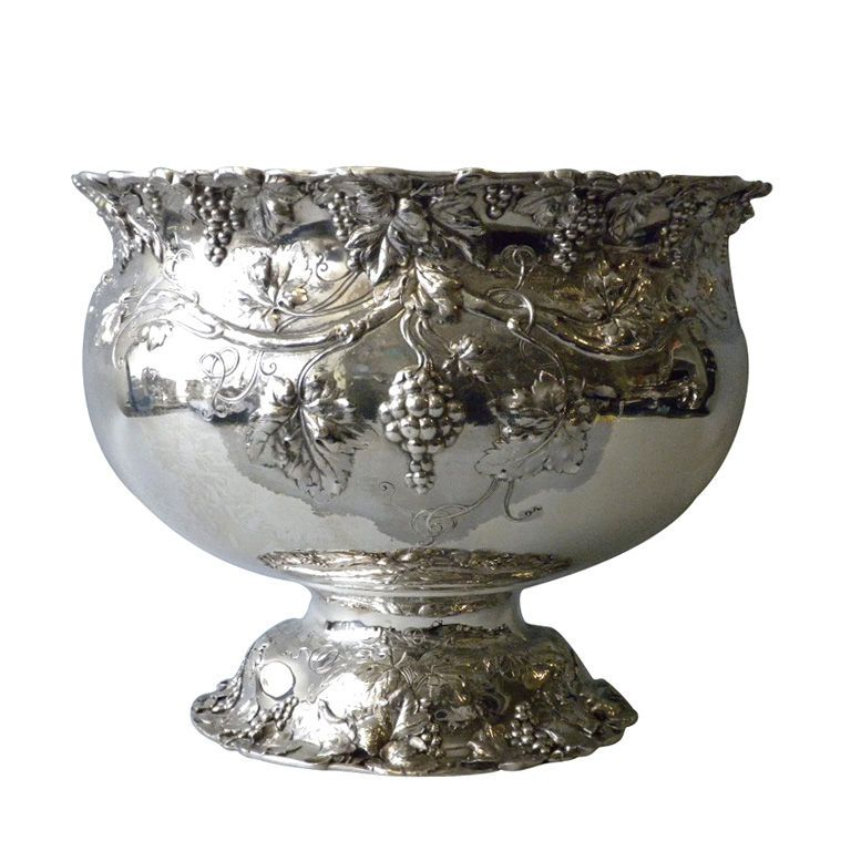 Intoxicating Reed Barton Sterling Punch Bowl Circa 1900 1stdibs Com Bronze Coin Antiques Sterling