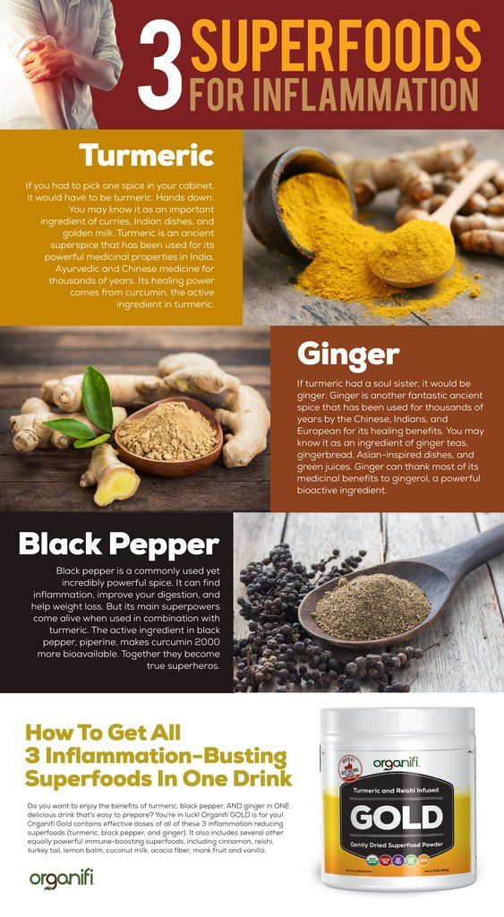 3 Superfoods For Inflammation Turmeric Ginger Black Pepper Get All 3 Inflammation Busting Superfoods In One Drink Organifi Health Heal Stuffed Peppers