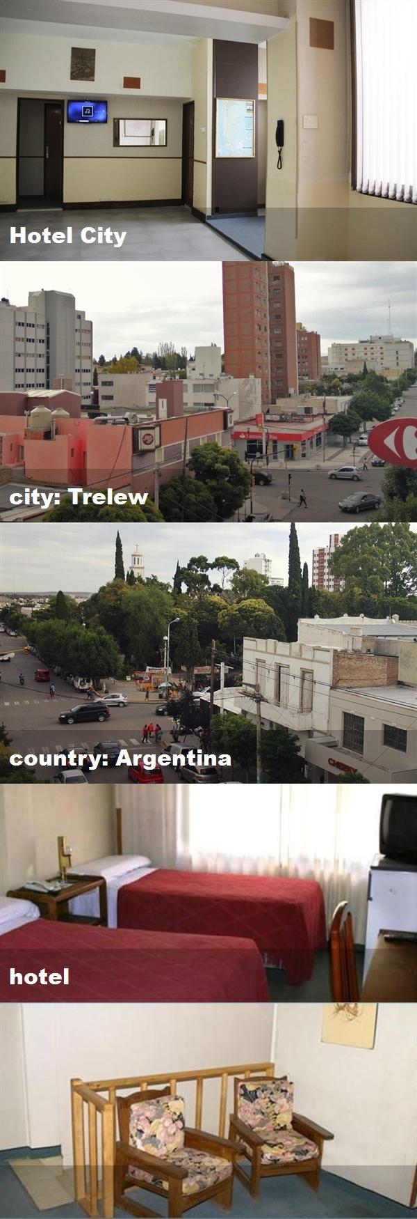 Hotel City, city: Trelew, country: Argentina, hotel