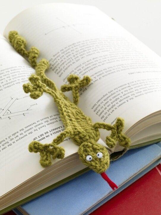 Gecko Bookmark Pattern (Crochet) | Hobbies | Pinterest | Tejido
