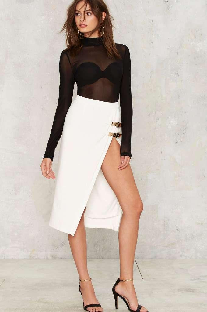 Mock Me Over Sheer Bodysuit - Clothes  ed6f361c1