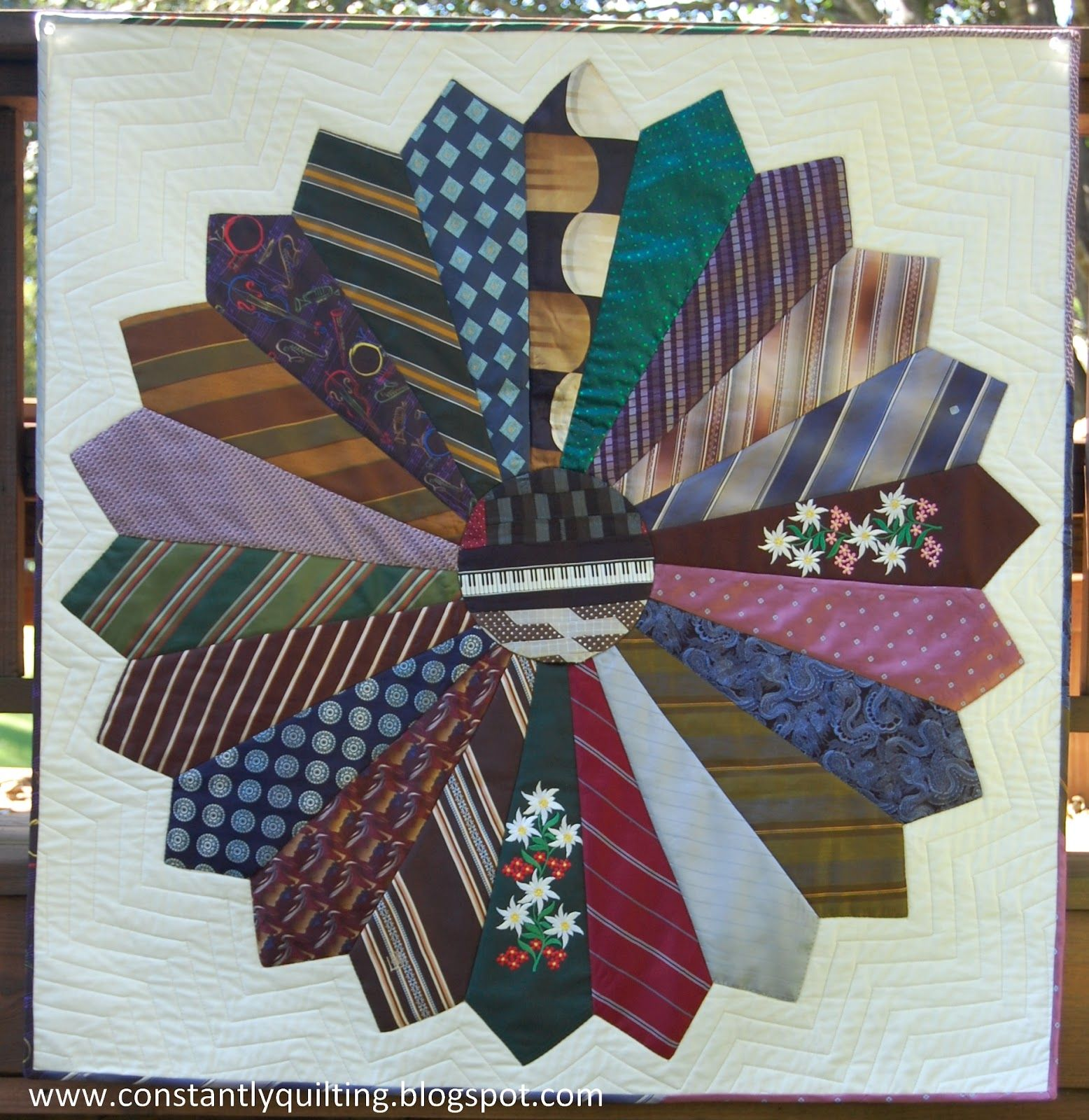 Men s Tie Quilt Patterns Free Constantly Quilting: Tie Quilt Finished! Joy Pinterest ...