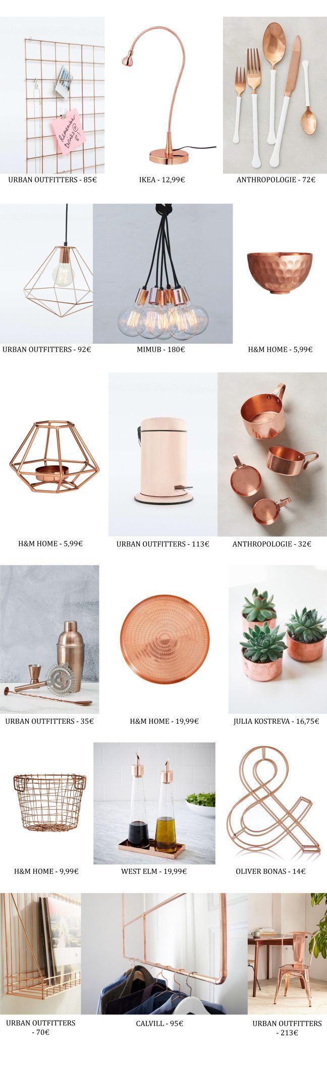 Tendencias decoración: El cobre - decoration: Copper