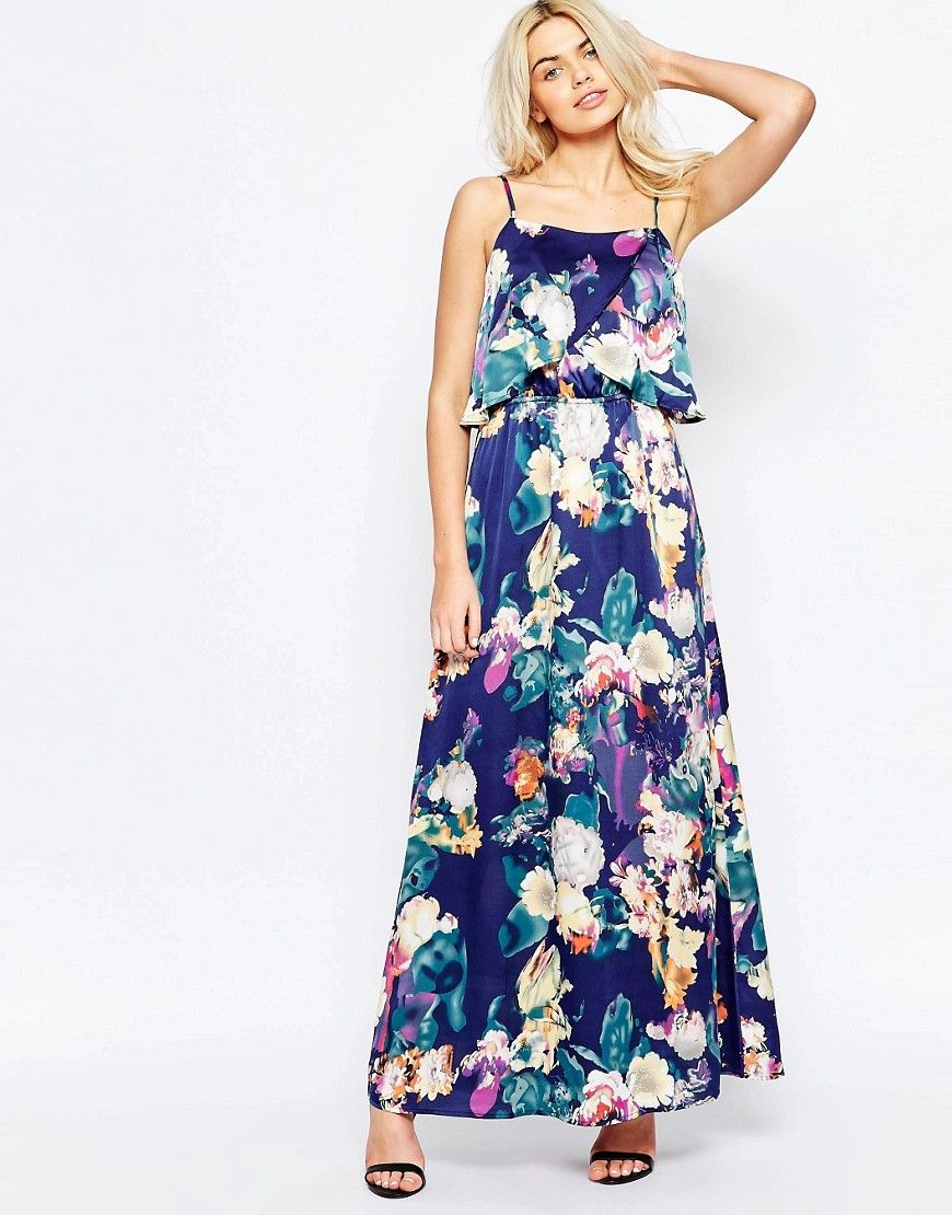 864a59afbb9 Image 1 of Girls on Film Maxi Dress in Blurred Floral Print ...