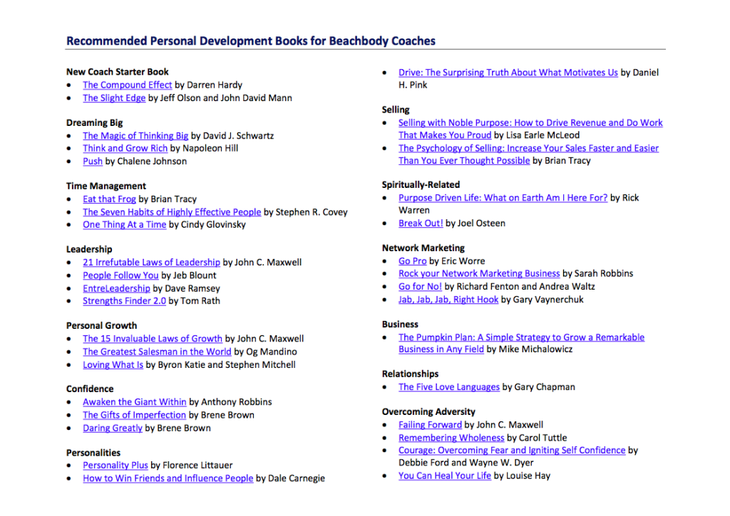 I\'ve compiled a list of recommended personal development books for ...