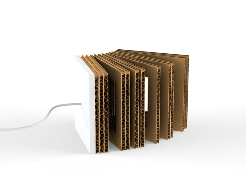 Organetto   Corrugated Cardboard Table Lamp