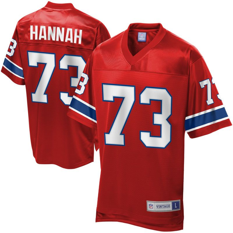 New Men's NFL Pro Line New England Patriots John Hannah Retired Player