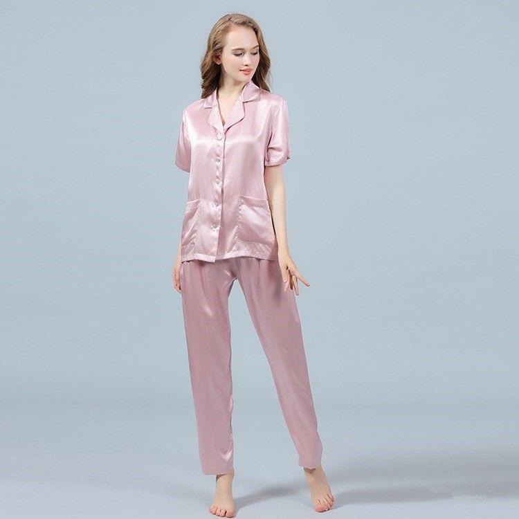 f9bd832c17 Silk pajama pants Silk long pajama trousers Silk pyjamas bottom Silk  loungewear Pink pajamas Gift fo