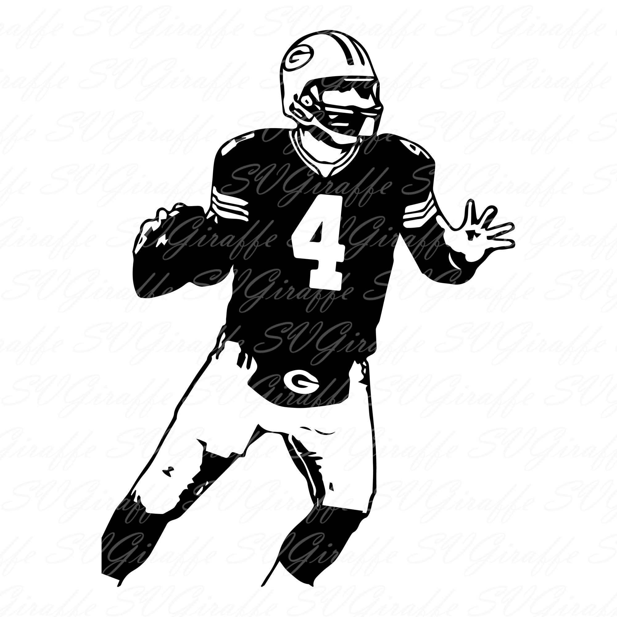 Brett Favre Svg Dxf Png Pdf Jpg Files Packers Vector File Etsy In 2020 Packers Png Mug Art