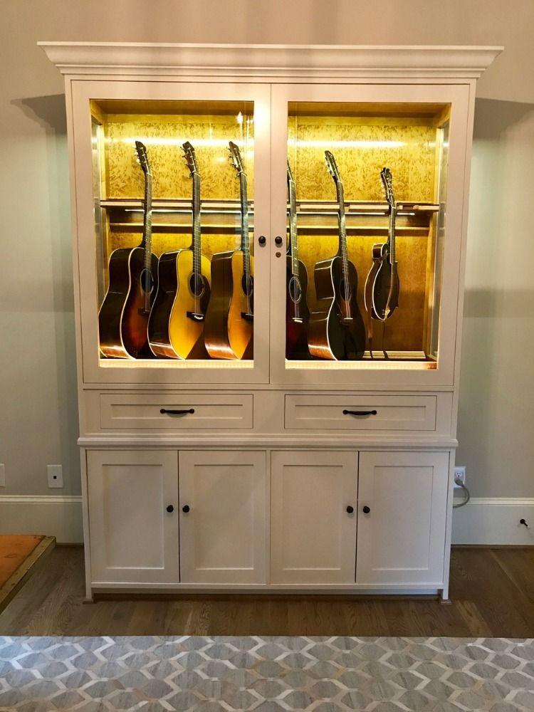 American Music Furniture Music Furniture Guitar Storage Cabinet Guitar Cabinet