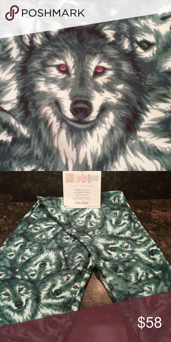 73433a12f9217 NWT LuLaRoe OS (Unicorn) Husky dogs (RARE) Piercing eyes of the Wolf or  Husky. A MUST HAVE! LuLaRoe Pants Leggings