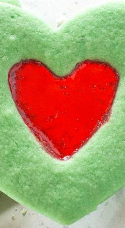 Grinch Heart Cookies