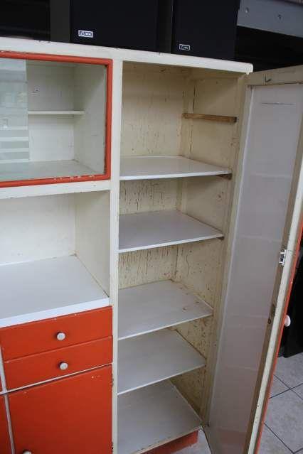 Mobile credenza dispensa da cucina anni 50 60 vetri molati 2 ...