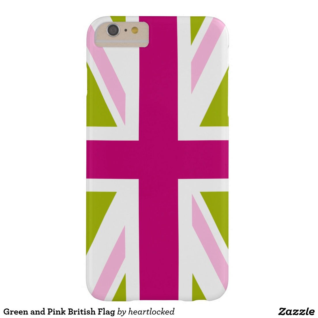 Green and Pink British Flag Barely There iPhone 6 Plus Case