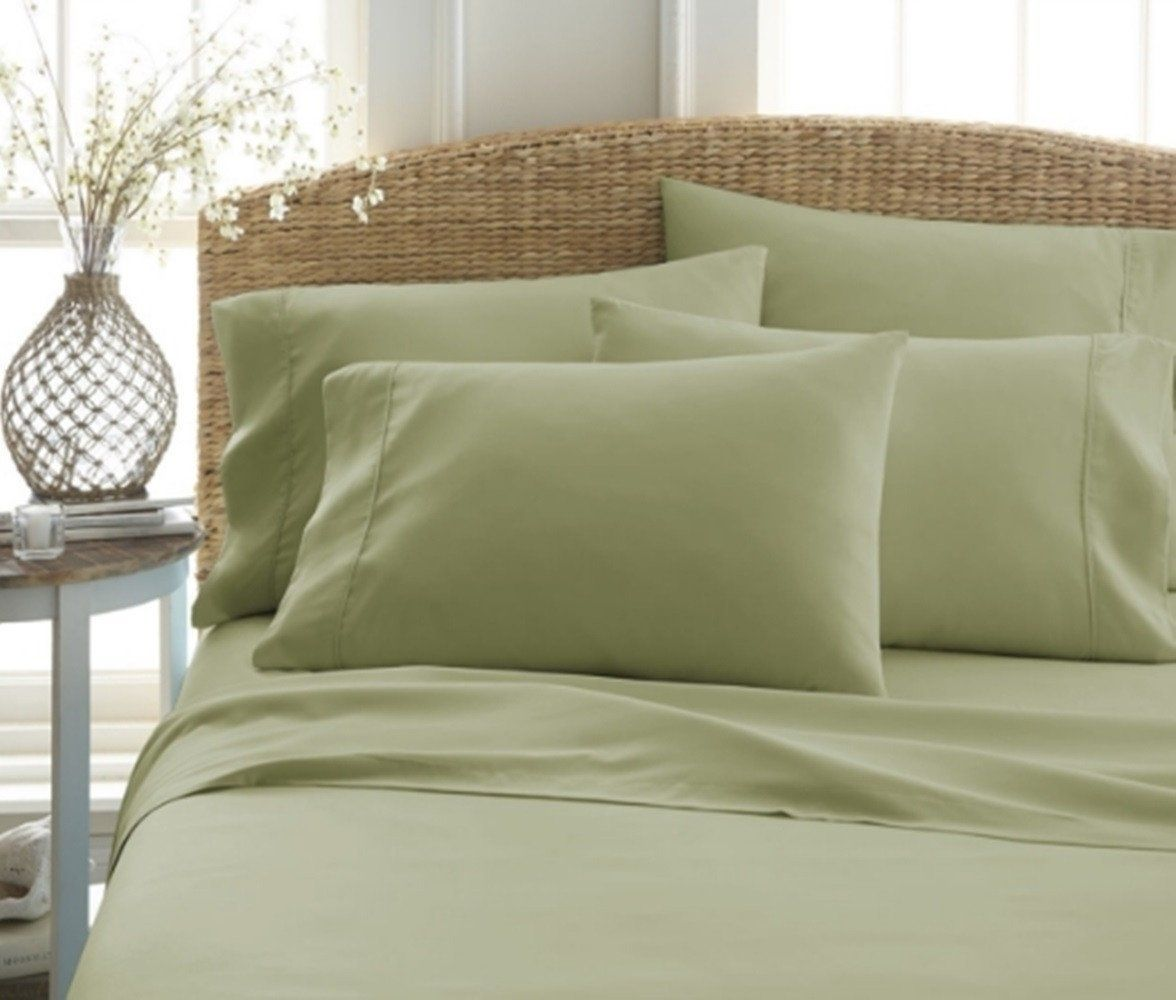 4 Piece Eco Friendly Deep Pocket Bamboo Bed Sheets Hypoallergenic And  Wrinkle Resistant #DoubleBedSheets