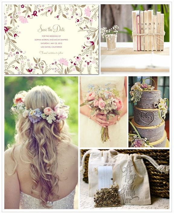 Looking For A Casual But Elegant Wedding Theme This Homespun Wildflower Is