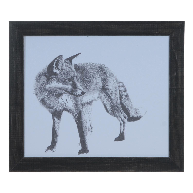 Crestview fox domestic wall art cva products