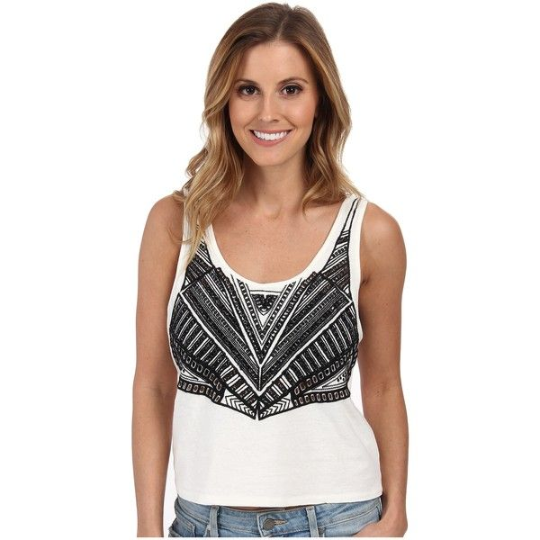 Amuse Society Willow Knit Tank Women's Sleeveless, White ($20) ❤ liked on Polyvore featuring tops, white, sleeveless tank, white sleeveless top, scoop neck tank top, knit crop top and crop top