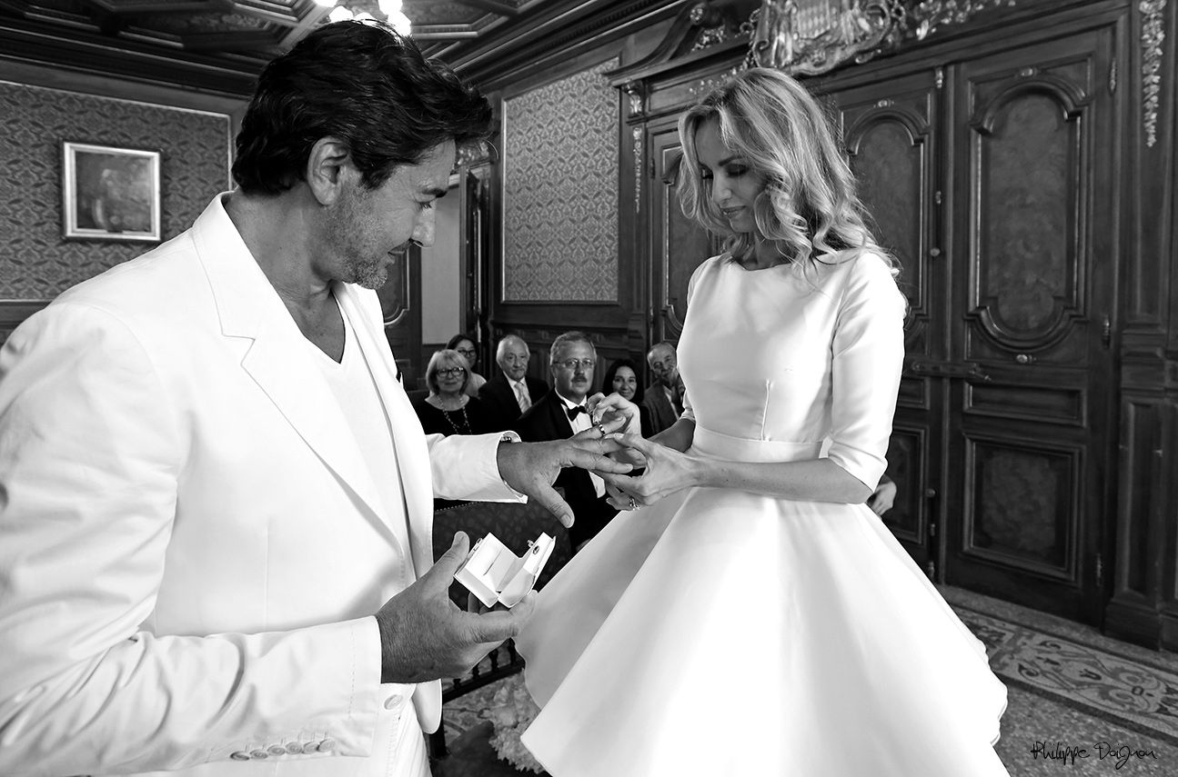 adriana karembeu aram ohanian in monaco city hall adriana karembeu aram ohanian wedding in. Black Bedroom Furniture Sets. Home Design Ideas