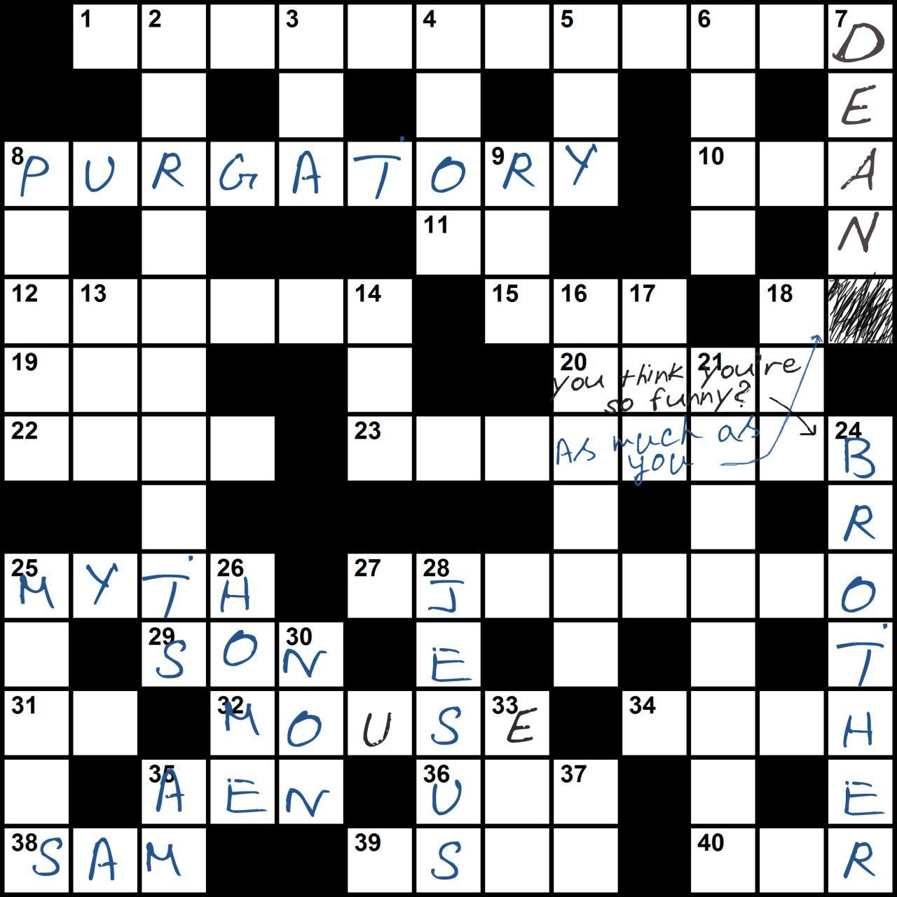 Winchester Crossword Puzzle