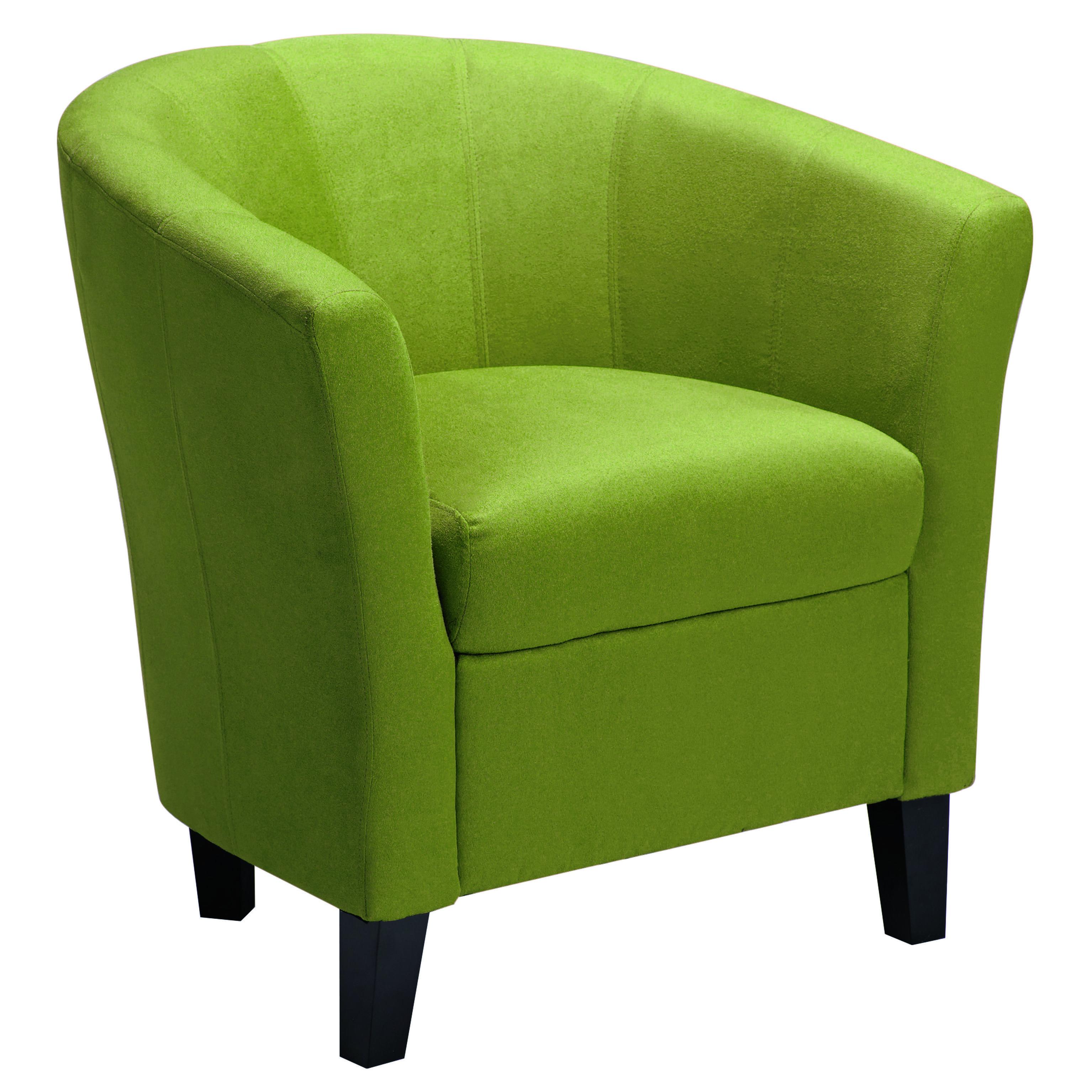 mod tub chair in green micro seude fabric autumn inspired