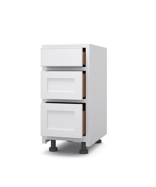 400w x 580d x 870h Drawer fronts are 150, 220 and 260 high.