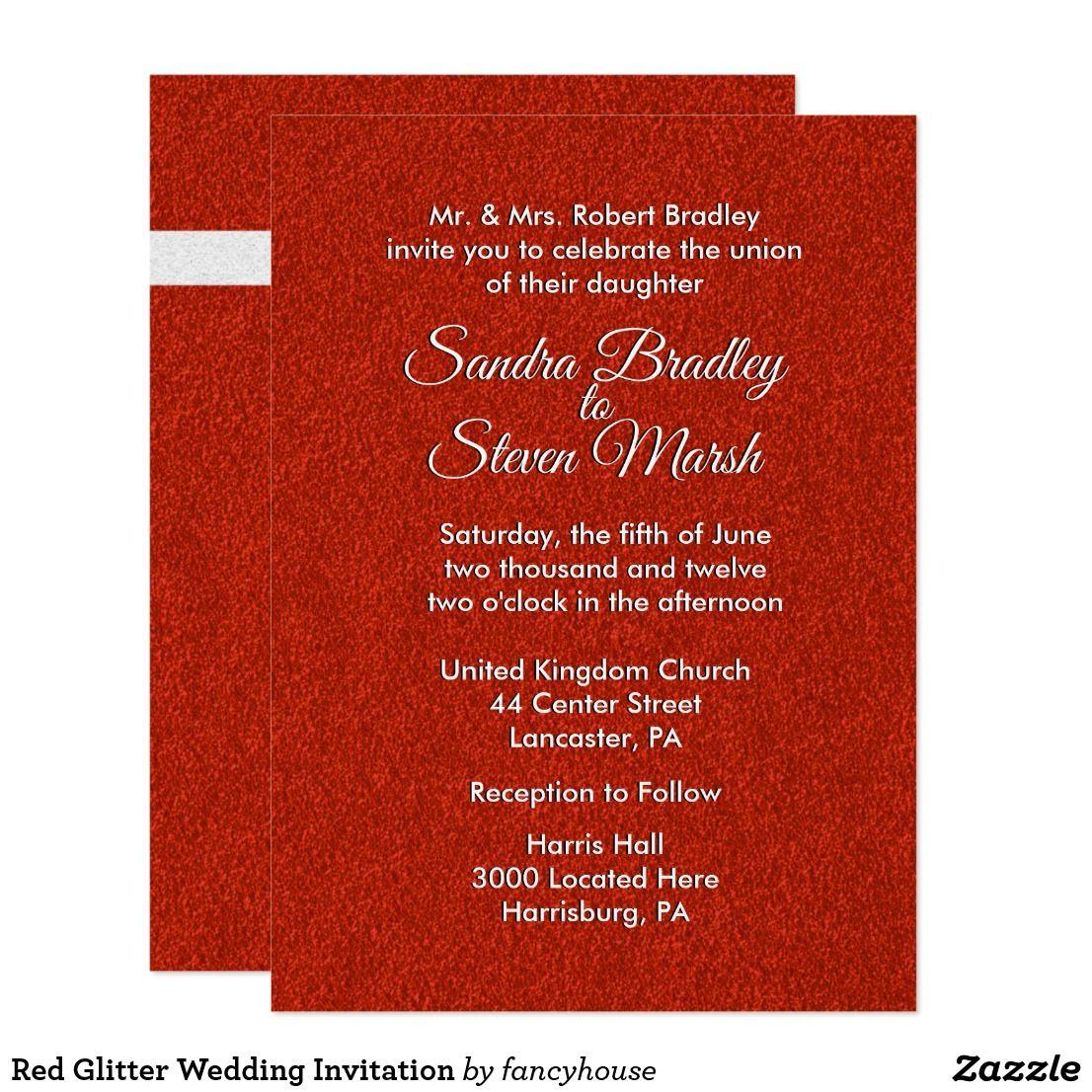 Amazing Glitter Wedding Invitation Sets Images - Invitations and ...
