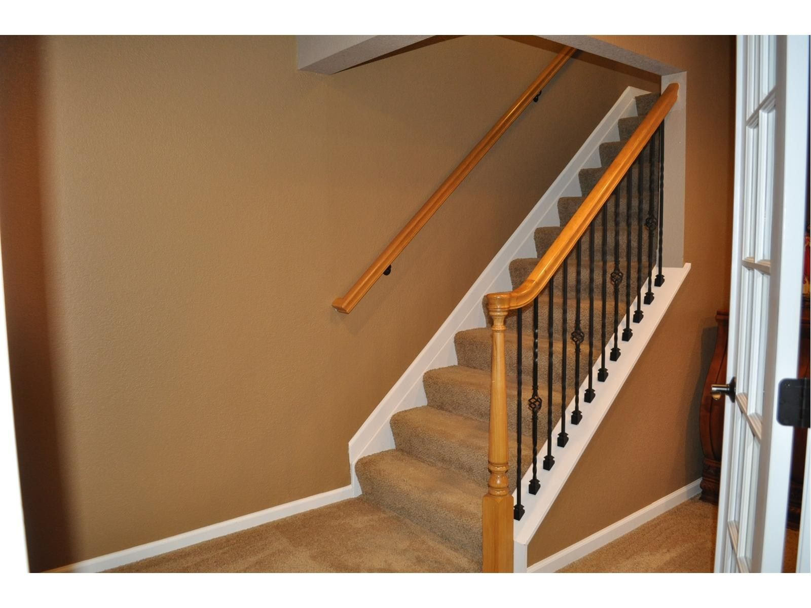 Change basement stairs to this partial open concept ...